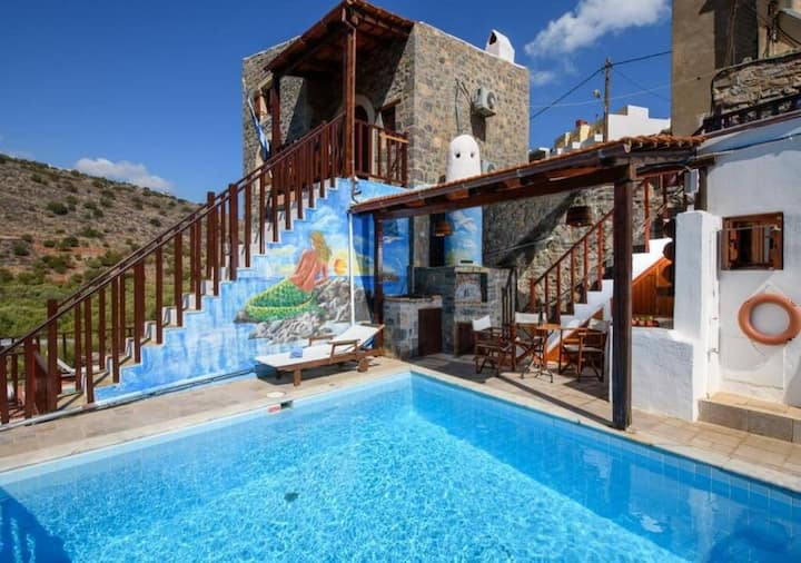 Traditional Homes- House 2 Bedrooms&Pool- Dimitra