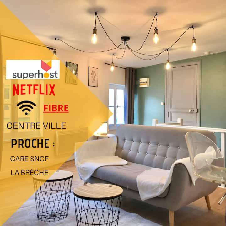 ☆ Jungle Cosy Appartement  ☆ Fibre ✯ Netflix ☆