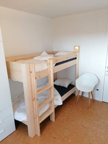 Bedroom 2 with a bunk bed (2x 200x90 cm)