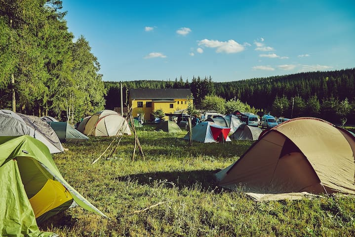 Blickinsfreie Camping für 2
