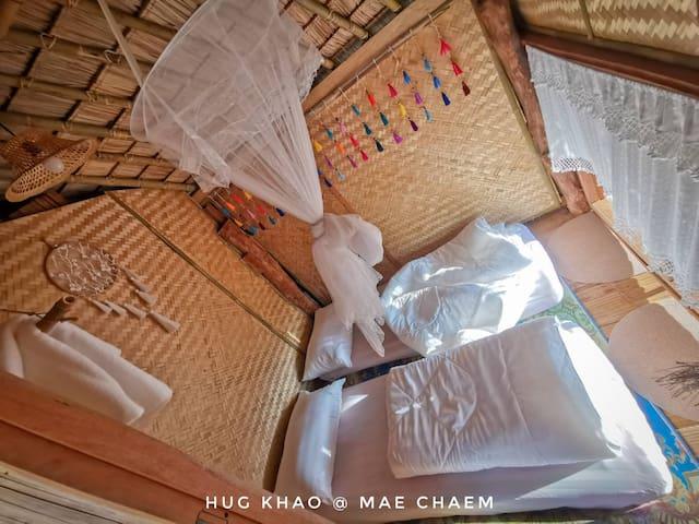 ฮักเขา ณ แม่แจ่ม โฮมสเตย์ Hug Khao at Mae Chaem Homestay and Camping ที่พัก บ้านพัก แม่แจ่ม แคมป์ปิ้ง ดูดาว ลานกางเต๊นท์  อ.แม่แจ่ม จ.เชียงใหม่ วิวดอยอินทนนท์ ป่าบงเปียง