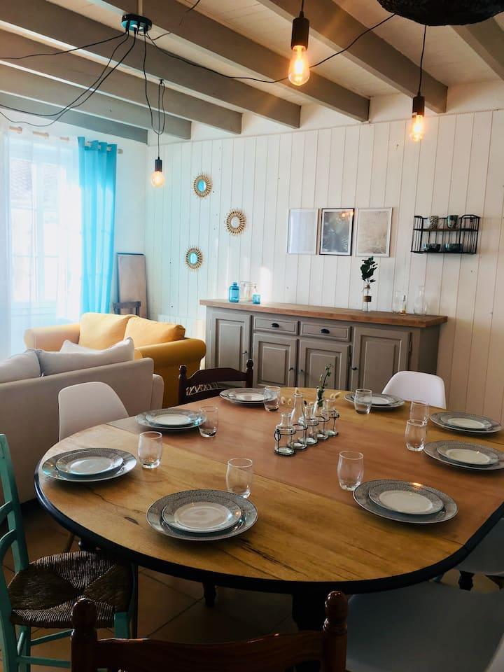 Maison familiale jusqu'à 11 personnes sur Oléron