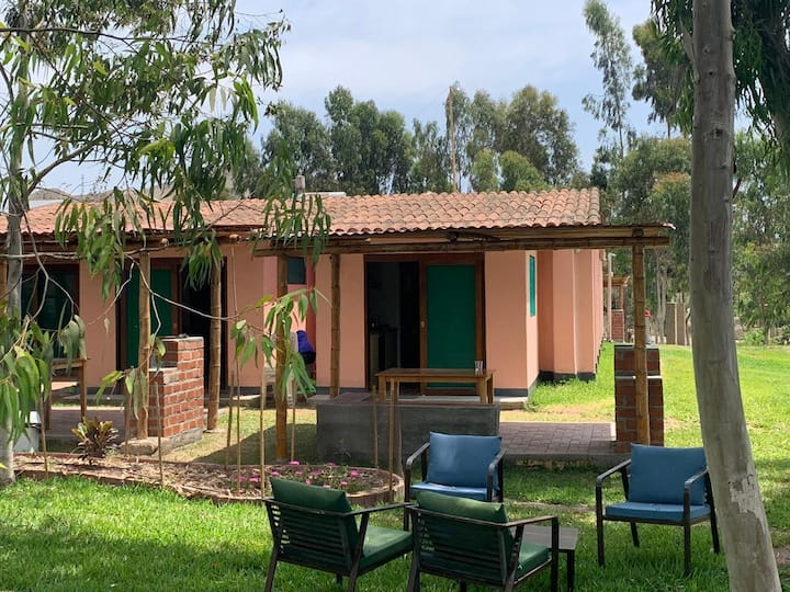 Bungalow Doble, vista al jardín, max 4 pers, #A3