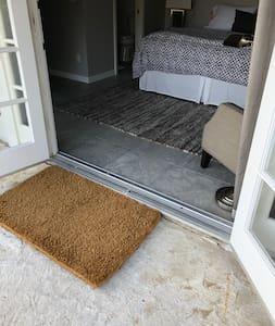 Double French door opening.