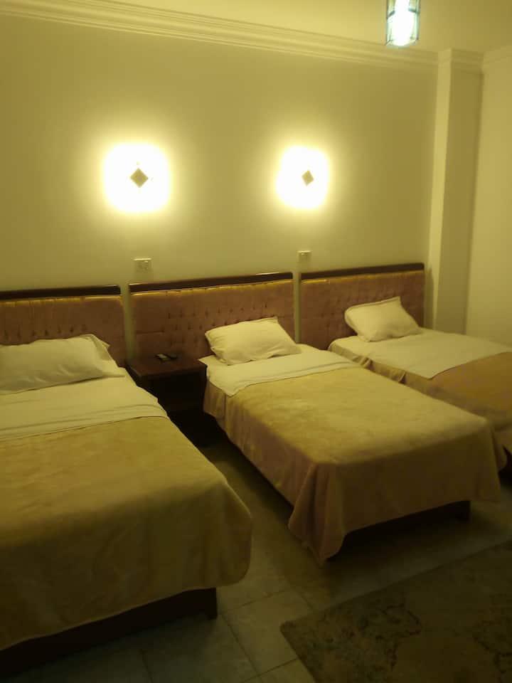 A Triple Room , Private Bathroom At Arabian Nights