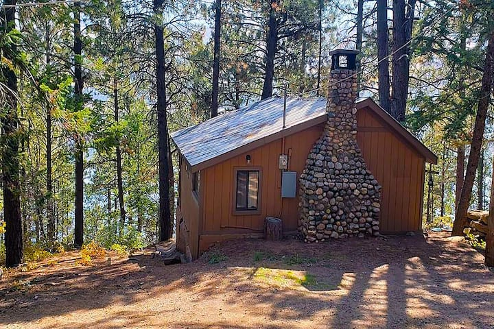 Lakefrnt Treehouse Cabin w/Sloped 200' trail 2Lake