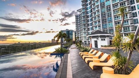 Secure apartment near beach, pool & Mactan airport