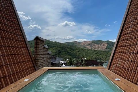 Premium Villa with panoramic view to Chimgan
