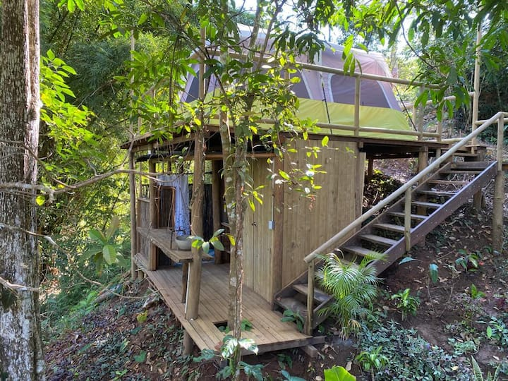 Glamping in middle of the jungle, next to river!