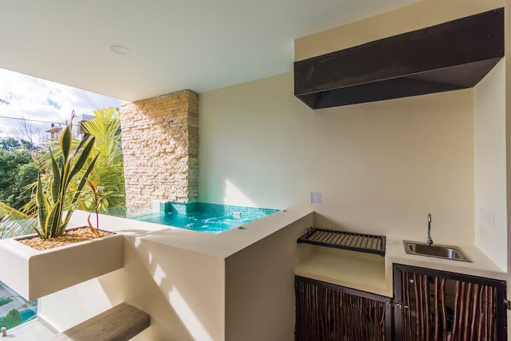 Intimate apartment w/ Plunge Pool • Moots 203