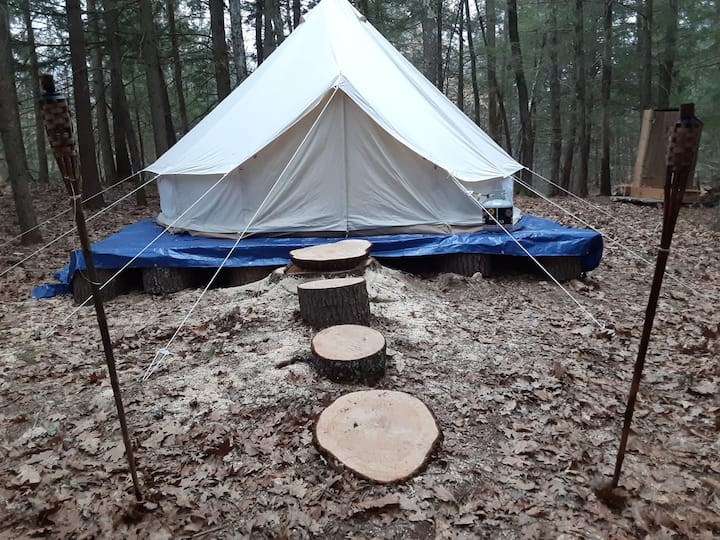 * Secluded Yurt1 L'Abri with Hiking Trail