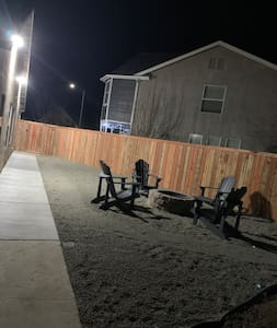 Motion sensor lighting for path to suite entrance in backyard