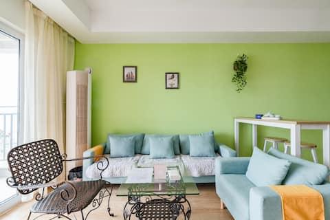 【橙途】万科大都会花样/日系抹绿二居室