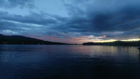 Chalet Ô Trois-Saumons  Directement au bord du Lac