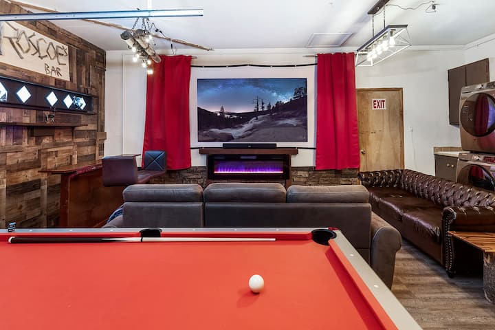Relax in Tahoe with a hot tub, movie room, & more