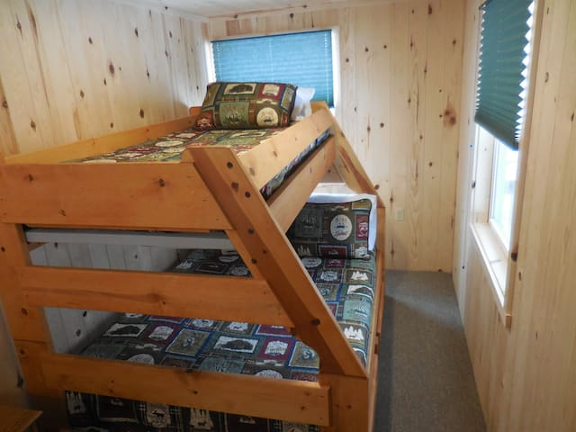 One of two bunks with all new bedding and pillows