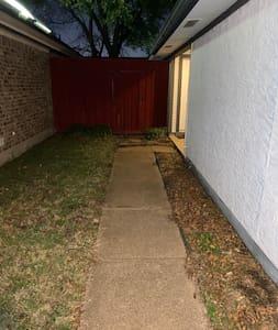 Sidewalk up to front door