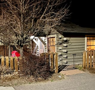 Besides Kimberlin's exterior lighting at the front door, she has a motion sensor light that illuminates the asphalt driveway from the dedicated parking space to her front door