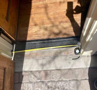 """The minimal threshold  front door way is 36"""" wide"""