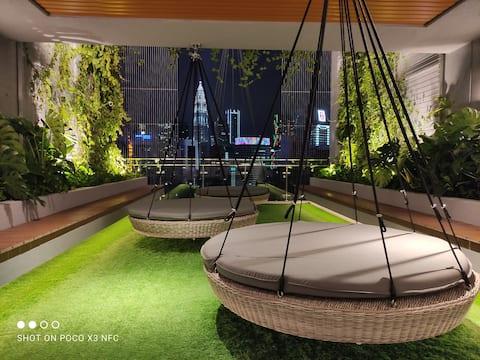Bkt Bintang 2-6 pax family luxury apt nr KL Tower