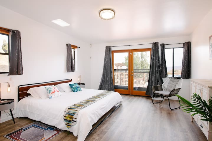 First bedroom with a King size bed