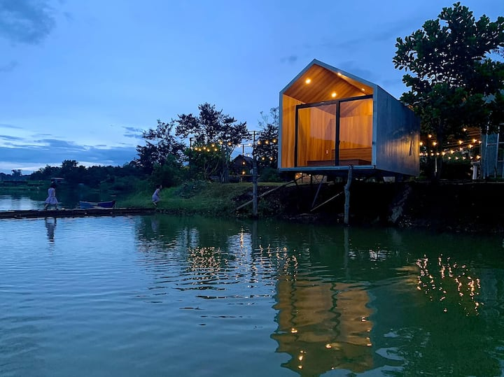 Bungalow deluxe nhìn ra hồ_ Yumin farmstay