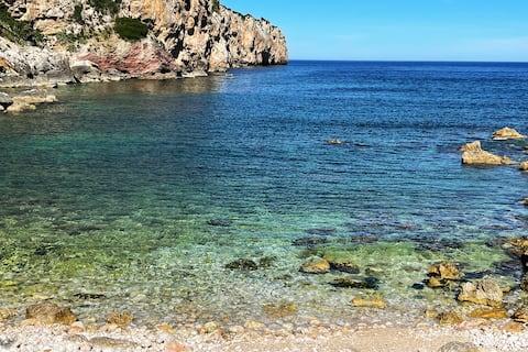 Nádherná vila 500 metrů od moře s bazénem