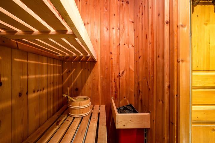 Charming 2BR APT MtBlanc view + sauna + skilift