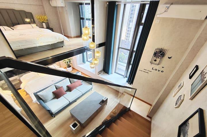 〖途宿〗臻选LOFT设计师公寓 全景·北欧双床房