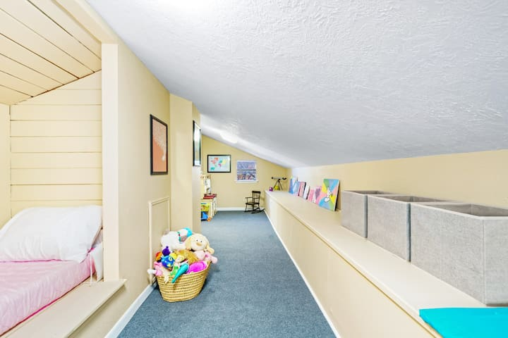 The Kids Loft is a curated 'secret place' for the children to have their own area to play & getaway. Parents love this space~!