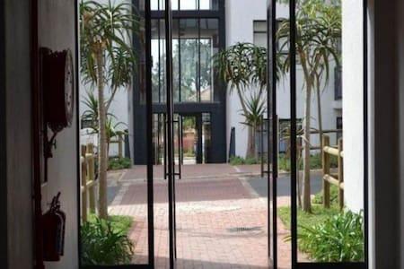 No steps to enter apartment block