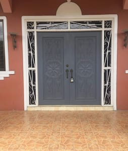 double front door available