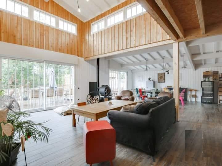 Maison familiale du bassin chaleureuse 214m²
