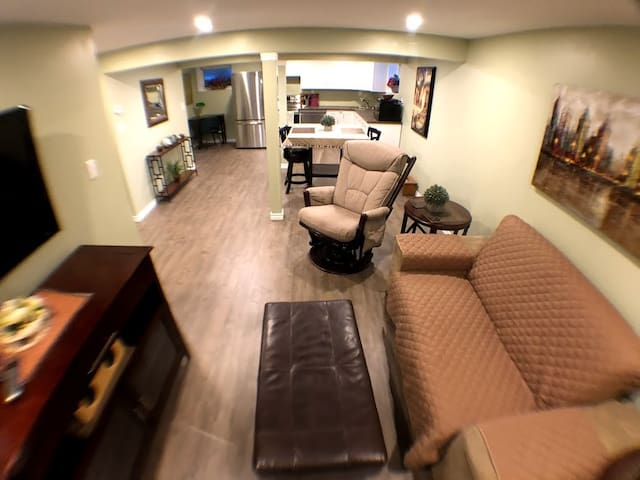 New Open Concept Suite with Comforts of Home.