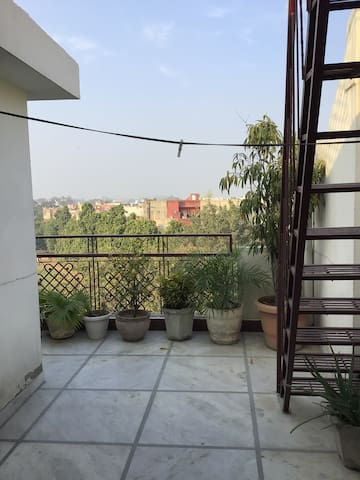 2bhk with open terrace and big balcony