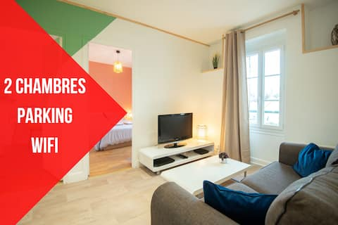 ★NEW★APPOIGNY★2 ROOMS★FREE PARKING★GARDEN