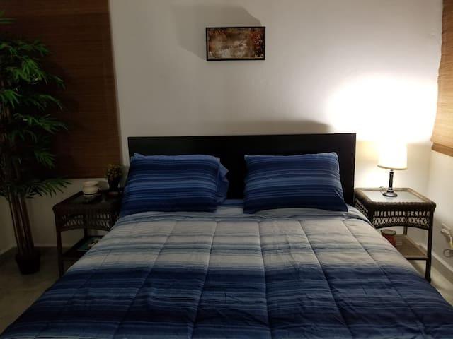 Room / Queen bed.