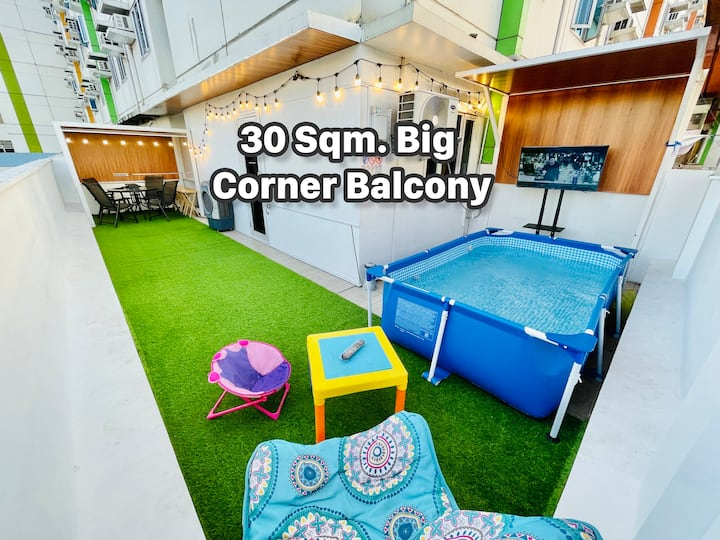 Best Value: 50-Sqm Condo for 5 Pax With Balcony