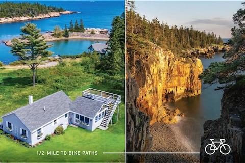 Stylish ocean-view home on Acadia's Schoodic Loop