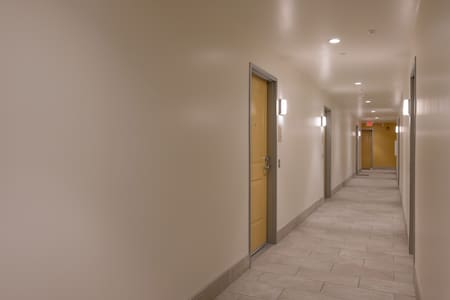 Hall leading to Apartment entry door