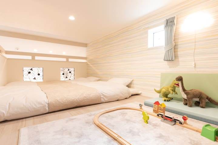 Loft can be used a kids room as well as bedroom