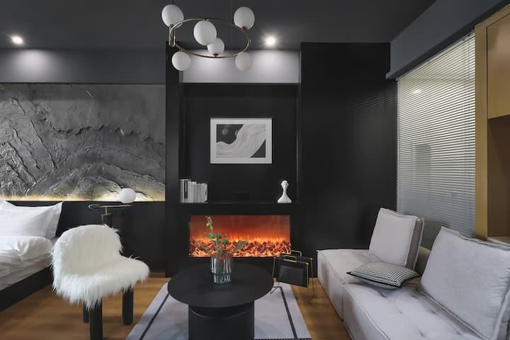 「凯铂公寓」现代酷盖新街口市中心德基广场夫子庙玄武湖珠江路地铁旁一居室