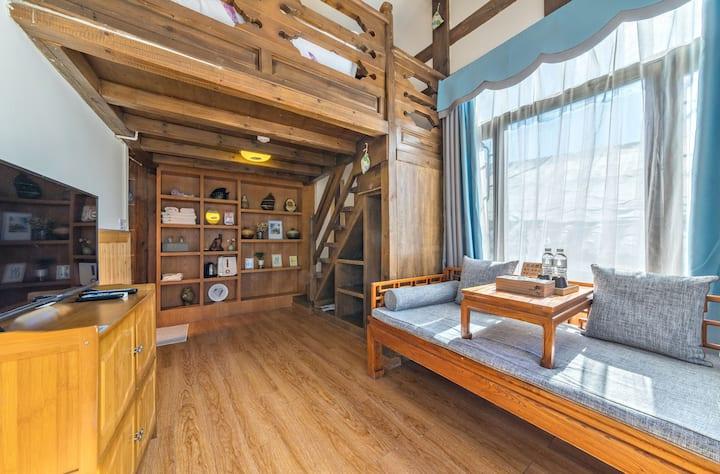 温馨复式Loft+300度观景平台+花园院落+私人订制