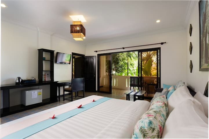 Double bed room, in room facilities