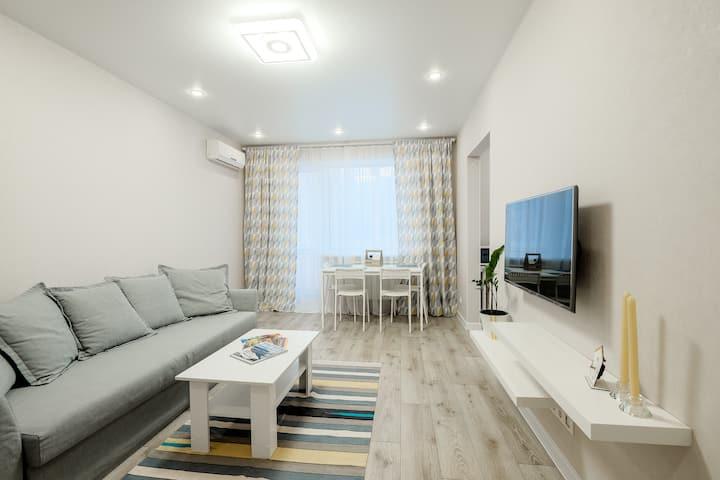 Свежая, уютная, красивая и современная квартира
