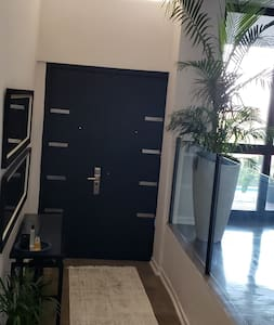 a double door at the entrance hall