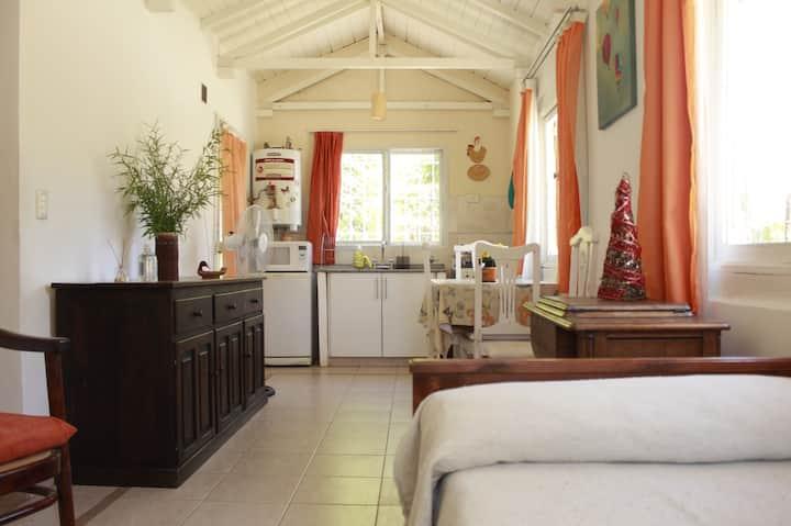 Descansa y relaja, aire puro en cabaña El olivo