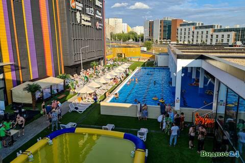 Аппартаменты с сауной в Видном, в ТРЦ с бассейном