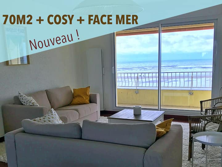 New! Crossing apartment facing the sea in Hardelot