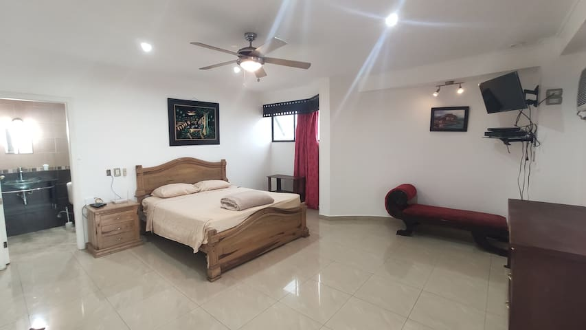 Bedroom with Queen Bed and Ensuite